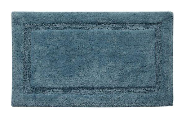 Saffron Fabs Bath Rug Cotton, 50x30 In, Anti-Skid, Arctic Blue, Washable, Regency