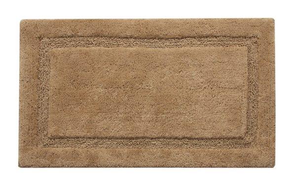 Saffron Fabs 2 Pc. Bath Rug Set, Cotton, 34x21 and 36x24, Anti-Skid, Beige, Regency