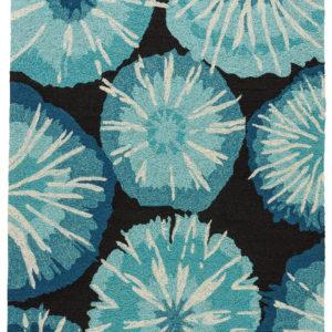 Jaipur Living Starburst Indoor/ Outdoor Abstract Blue/ Black Area Rug (2'X3')