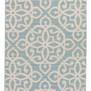 "Jaipur Living Scrolled Indoor/ Outdoor Medallion Blue/ Cream Area Rug (2'X3'7"")"