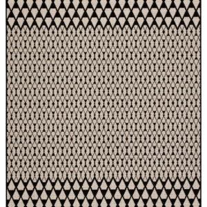 "Jaipur Living Traveller Indoor/ Outdoor Geometric Black/ Ivory Area Rug (2'X3'7"")"
