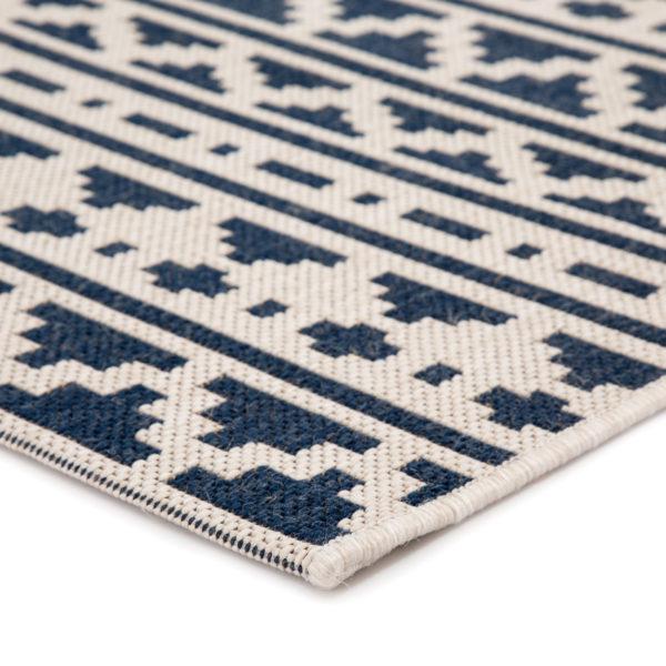 "Jaipur Living Killick Indoor/ Outdoor Tribal Blue/ Ivory Area Rug (2'X3'7"")"