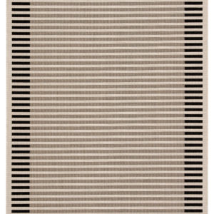 "Jaipur Living Fathom Indoor/ Outdoor Stripes Ivory/ Black Area Rug (2'X3'7"")"
