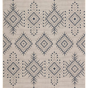 """Jaipur Living Compass Indoor/ Outdoor Tribal Ivory/ Blue Area Rug (2'X3'7"""")"""