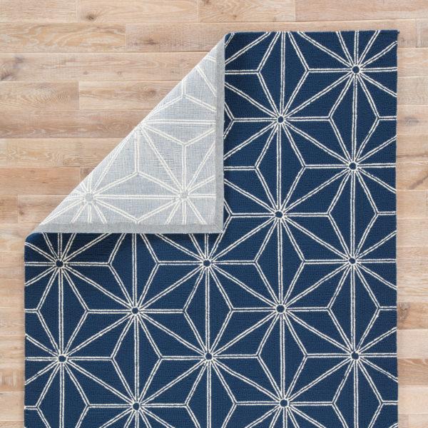 Jaipur Living Haige Indoor/ Outdoor Geometric Navy/ White Area Rug (2'X3')