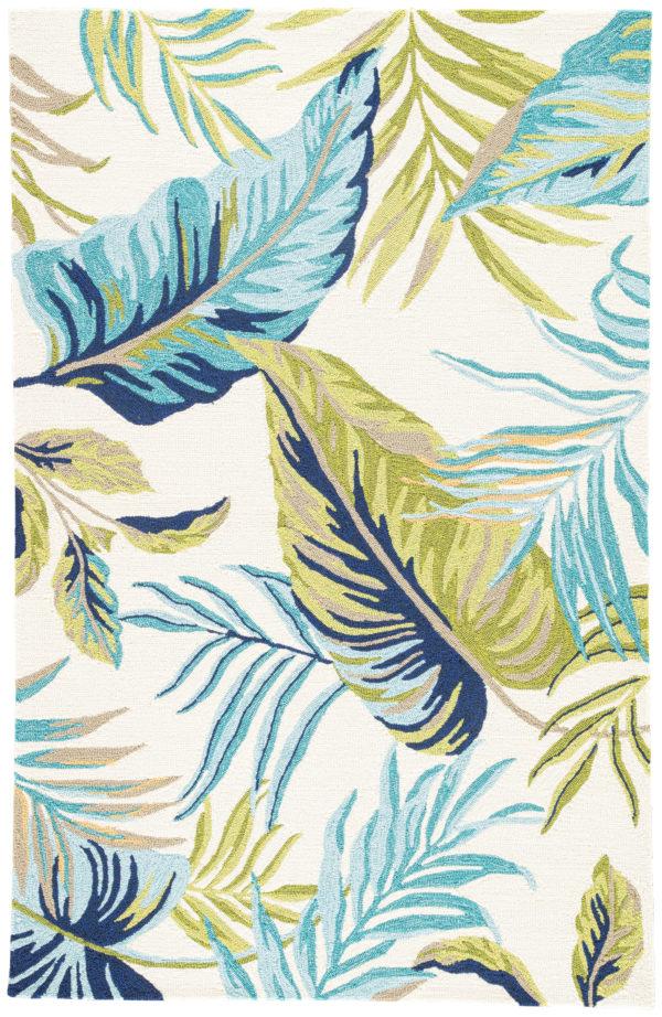Jaipur Living Fraise Indoor/ Outdoor Floral Blue/ Green Area Rug (2'X3')