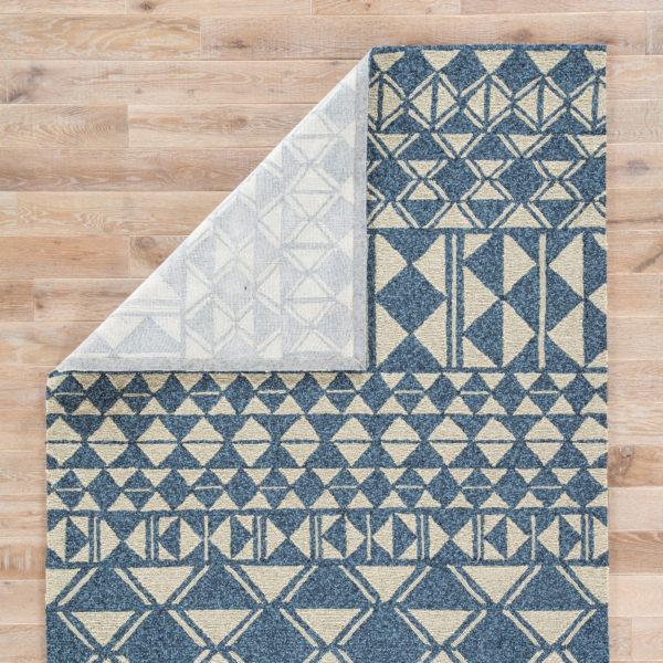 Jaipur Living Botella Indoor/ Outdoor Geometric Blue/ Cream Area Rug (2'X3')