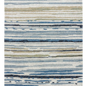 Lauren Wan by Jaipur Living Sketchy Lines Indoor/ Outdoor Abstract Silver/ Blue Area Rug (2'X3')
