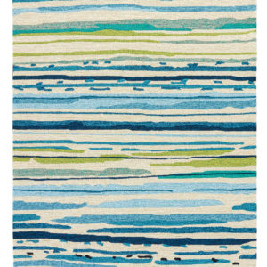 Jaipur Living Sketchy Lines Indoor/ Outdoor Abstract Blue/ Green Area Rug (2'X3')