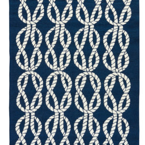 Jaipur Living Roped In Indoor/ Outdoor Abstract Navy/ White Area Rug (2'X3')