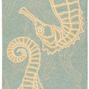 Jaipur Living Sea Horsing Around Indoor/ Outdoor Animal Blue/ Beige Area Rug (2'X3')