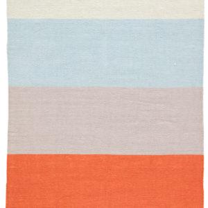 Jaipur Living Swane Indoor/ Outdoor Stripe Orange/ Blue Area Rug (2'X3')