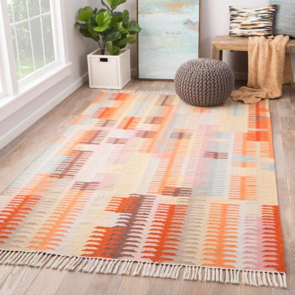 Jaipur Living Carver Indoor/ Outdoor Abstract Orange/ Brown Area Rug (2'X3')
