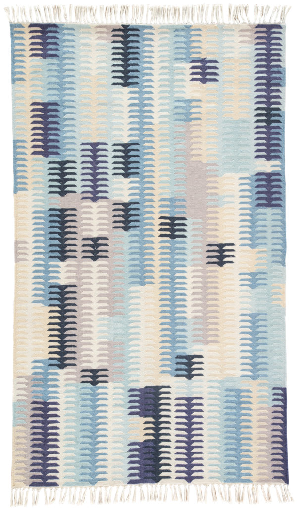 Jaipur Living Carver Indoor/ Outdoor Abstract Blue/ Gray Area Rug (2'X3')