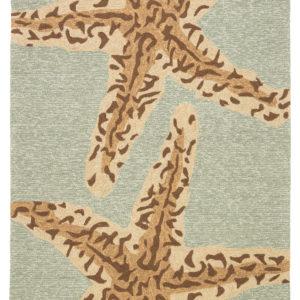 Jaipur Living Sea Star Indoor/ Outdoor Animal Blue/ Brown Area Rug (2'X3')