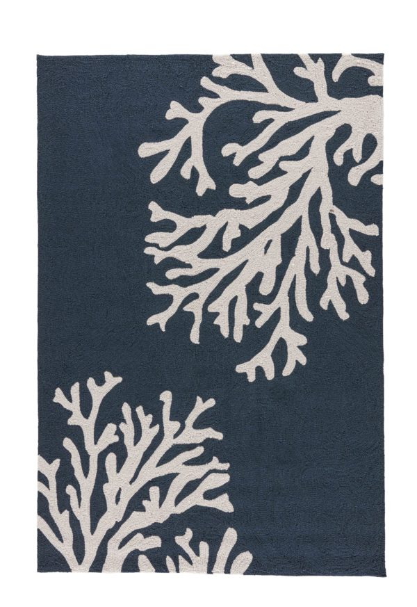 Jaipur Living Bough Out Indoor/ Outdoor Floral Navy/ Cream Area Rug (2'X3')