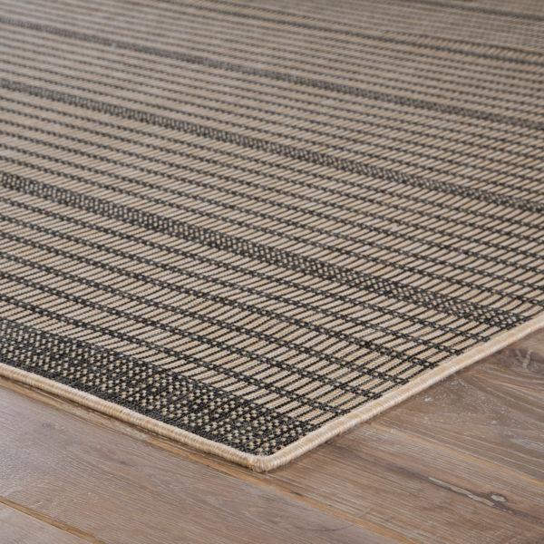 Jaipur Living Middlebrook Indoor/ Outdoor Stripe Black/ Beige Area Rug (2'X3')