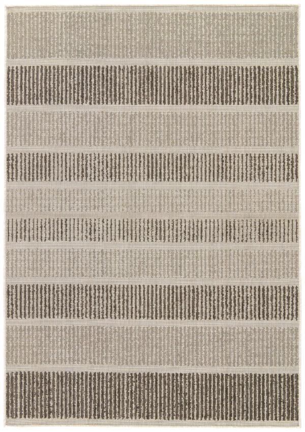 Jaipur Living Cado Indoor/ Outdoor Stripe Gray/ Black Area Rug (2'X3')