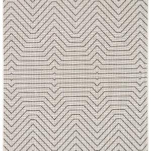 Jaipur Living Prima Indoor/ Outdoor Geometric Light Gray/ Black Area Rug (2'X3')