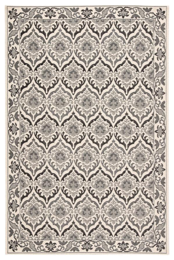 """Jaipur Living Laurel Indoor/ Outdoor Damask Dark Gray/ Cream Area Rug (2'X3'7"""")"""