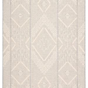 "Jaipur Living Shiloh Indoor/ Outdoor Tribal Gray/ Cream Area Rug (2'X3'7"")"