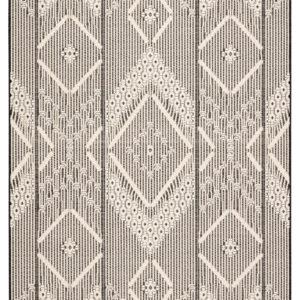 "Jaipur Living Shiloh Indoor/ Outdoor Tribal Dark Gray/ Cream Area Rug (2'X3'7"")"