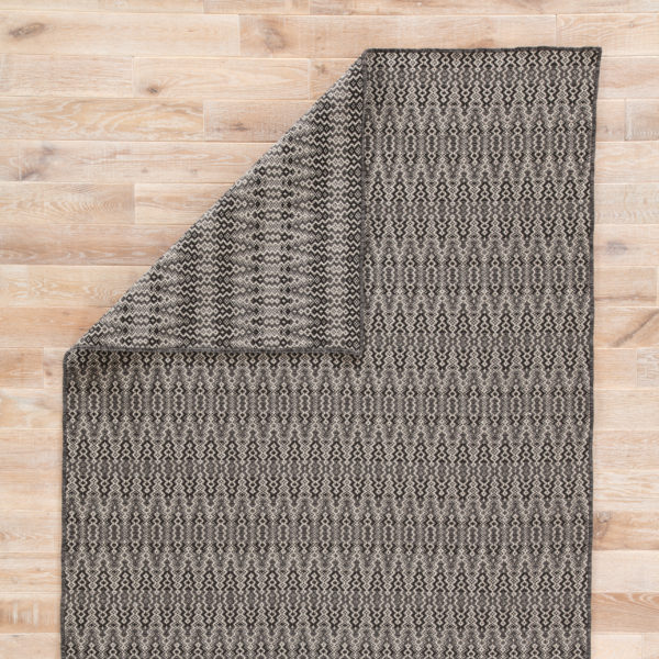 Jaipur Living Crover Indoor/ Outdoor Geometric Black/ Gray Area Rug (2'X3')