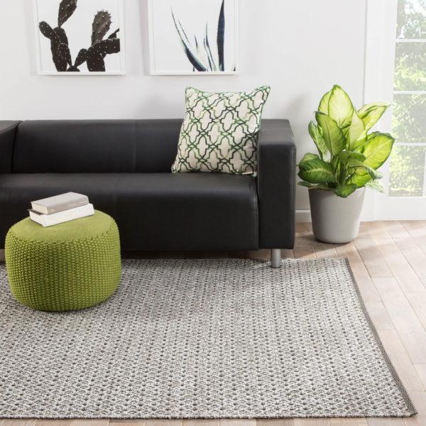 Jaipur Living Foster Indoor/ Outdoor Trellis Gray/ White Area Rug (2'X3')