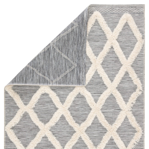"Jaipur Living Bandalier Indoor/ Outdoor Trellis Gray/ Cream Area Rug (2'X3'7"")"