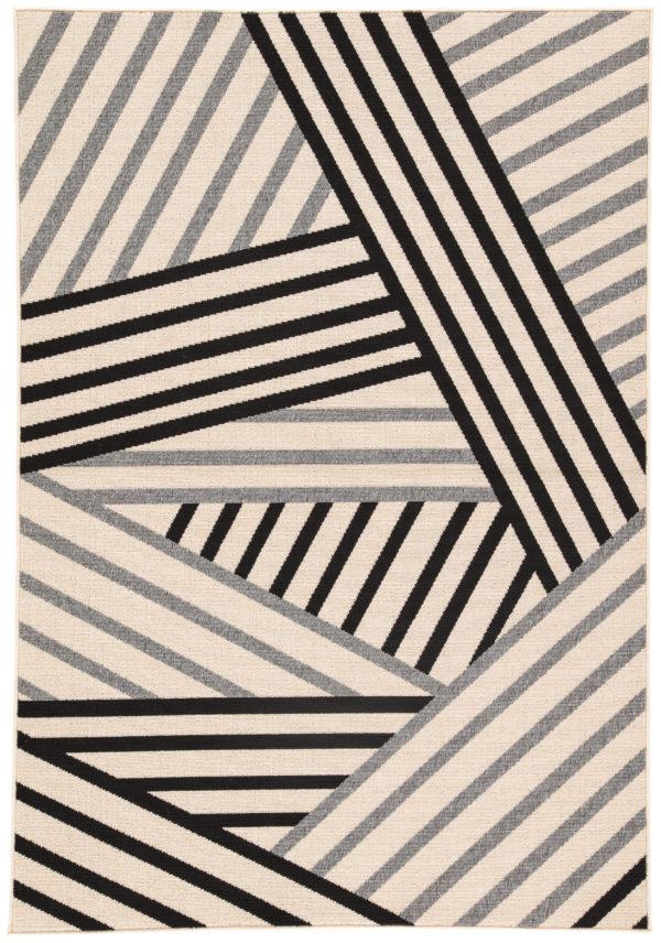 "Jaipur Living Begley Indoor/ Outdoor Geometric Black/ Gray Area Rug (2'X3'7"")"