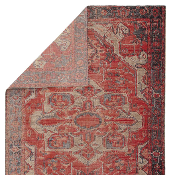 Jaipur Living Leighton Indoor/ Outdoor Medallion Red/ Blue Area Rug (2'X3')