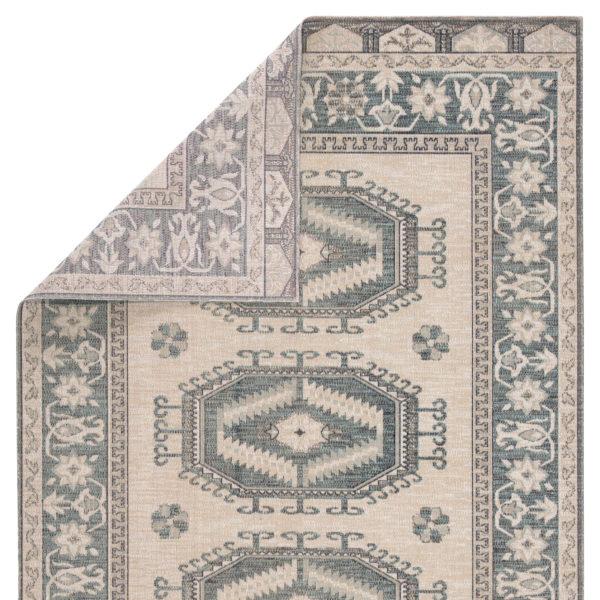 Jaipur Living Miner Indoor/ Outdoor Medallion Light Teal/ Gray Area Rug (2'X3')