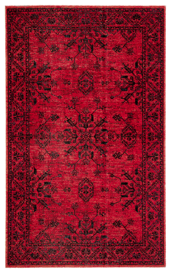 Jaipur Living Fayer Indoor/ Outdoor Medallion Red/ Black Area Rug (2'X3')