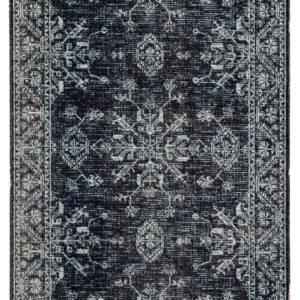 Jaipur Living Fayer Indoor/ Outdoor Medallion Blue/ Black Area Rug (2'X3')