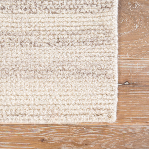 Jaipur Living Limon Indoor/ Outdoor Solid Cream/ Gray Area Rug (2'X3')