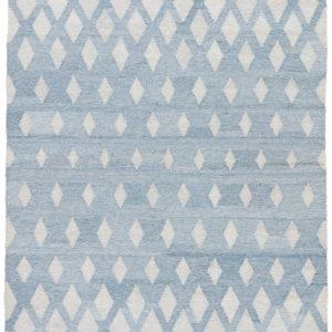 Jaipur Living Winipeg Indoor/ Outdoor Geometric Blue/ Cream Area Rug (2'X3')