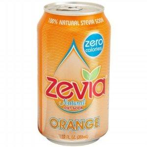 Zevia Natural Orange Diet Soda (4x6x12 Oz)