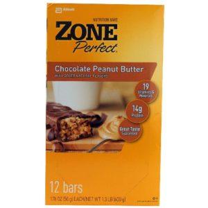 Zone Choc Peanut Butter Nutrition Bar (12x1.76 Oz)