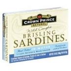 Crown Prince Brisling Sardines in Water (12x3.75 Oz)