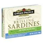 Crown Prince Brisling Sardines in Olive Oil (12x3.75 Oz)