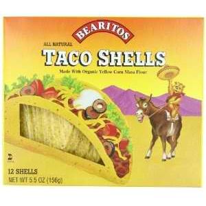 Little Bear Yellow Corn Taco Shells (12x5.5 Oz)