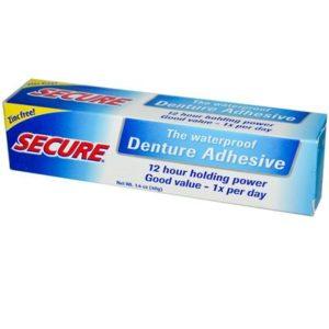 Secure Denture Bonding Cream (1x1.4 Oz)