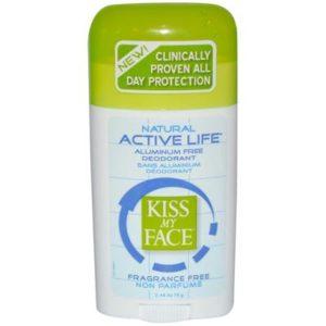 Kiss My Face Fragrance Free Active Enzyme Deodorant Stick (1x2.48 Oz)