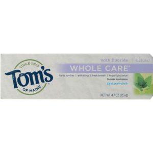 Tom's Of Maine Spearmint Whole Care Flouride Toothpaste (6x4.7 Oz)