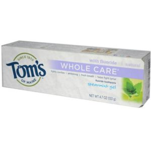 Tom's Of Maine Spearmint Whole Care Gel Toothpaste (6x4.7 Oz)