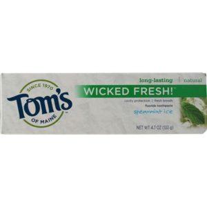 Tom's Of Maine Wicked Fresh! Spearmint Ice Toothpaste (6x4.7 Oz)