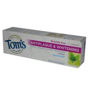 Tom's Of Maine Tartar Control+Whitening Spearmint Fluoride Free Toothpaste (6x5.5 Oz)