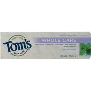 Tom's Of Maine Peppermint Whole Care Toothpaste (6x4.7 Oz)
