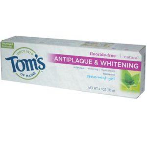 Tom's Of Maine Antiplaque and Whitening Spearmint Gel Toothpaste (6x4.7 Oz)