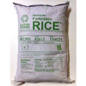 Lotus Foods Frbdn Rice Chna Black (1x22LB )